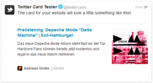 Twitter Card Preview Tool