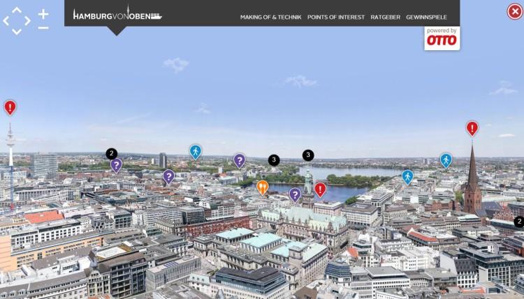 100 Gigapixel Hamburg Panorama (Screenshot: hamburg-von-oben.de)