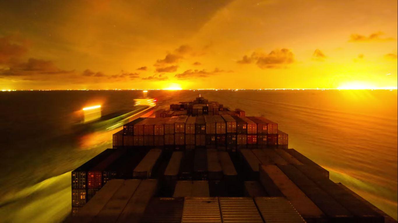 Timelapse Gunhilde Maersk